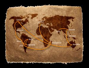 Parcours tour du monde
